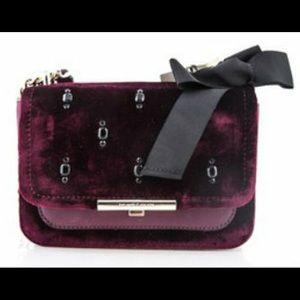 New Kate Spade Juliane Jeweled Velvet&Leather Bag